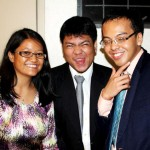 Coach Melane goofing off with Melbourne Piccio and Josephus Bumaat, MyReviewCoach reviewees at MindGym's Sept 2012 LET Victory Party